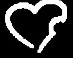 Herz in transparent